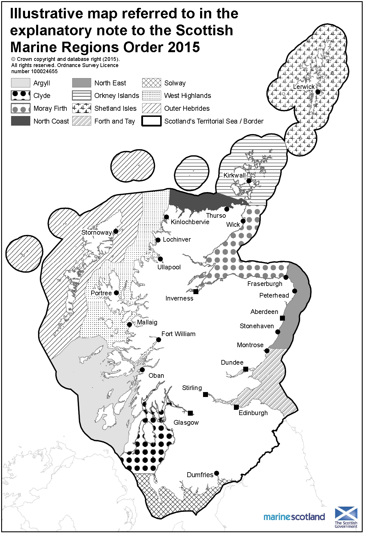 Scottish sufing regions